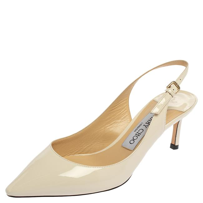 Item - White Patent Leather Slingback Size 36.5 Pumps