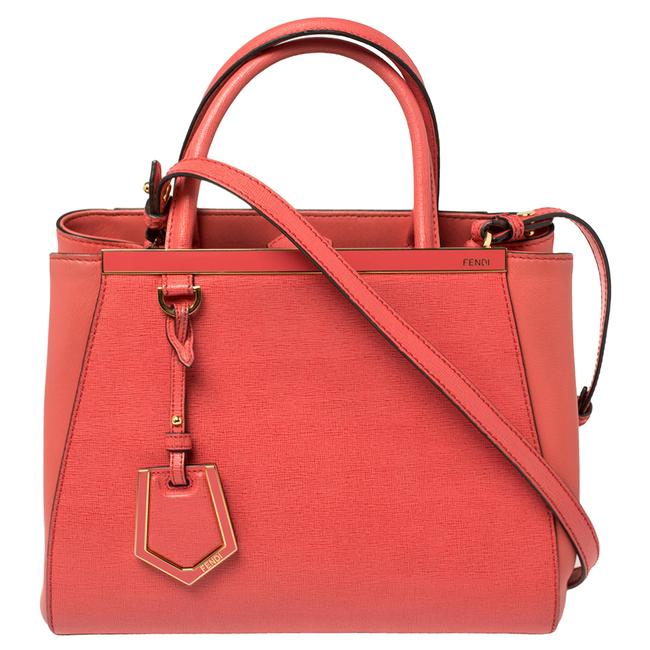 Item - Orange Leather Mini 2jours Tote
