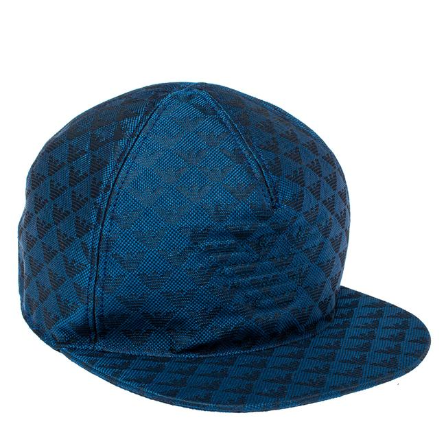Item - Blue Monogram Pattern Baseball Cap M Tech Accessory