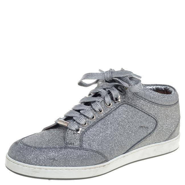 Item - Metallic Sliver Glitter Miami Low Top Sneakers Size 37 Athletic