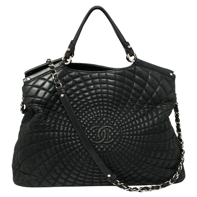 Item - Green Quilted Iridescent Leather Large Sea Hit Tote