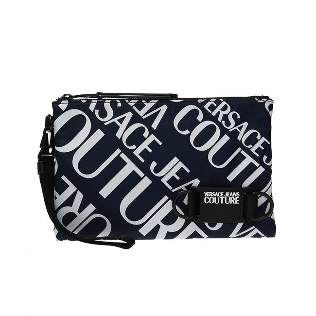 Item - Couture All Over Logo Print Pouch Navy Blue Wallet