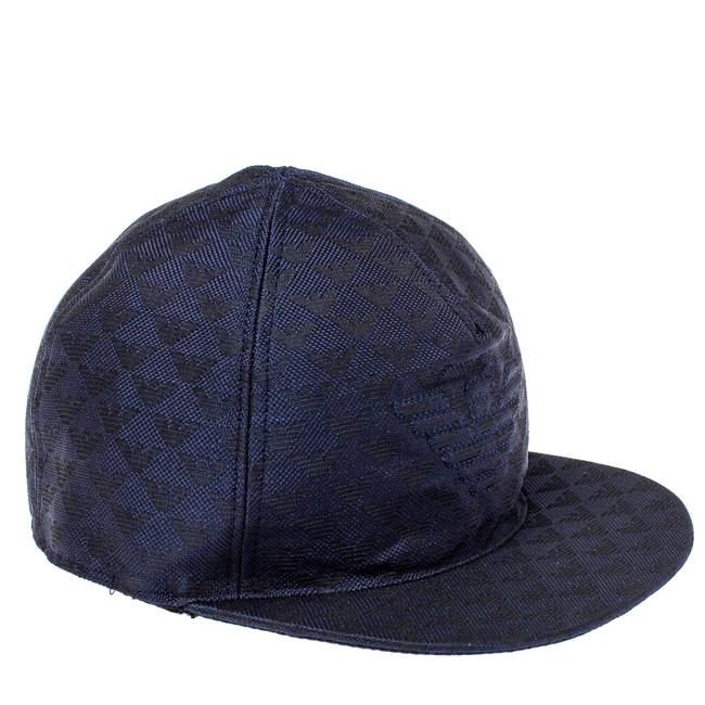 Item - Navy Blue Monogram Pattern Baseball Cap M Tech Accessory