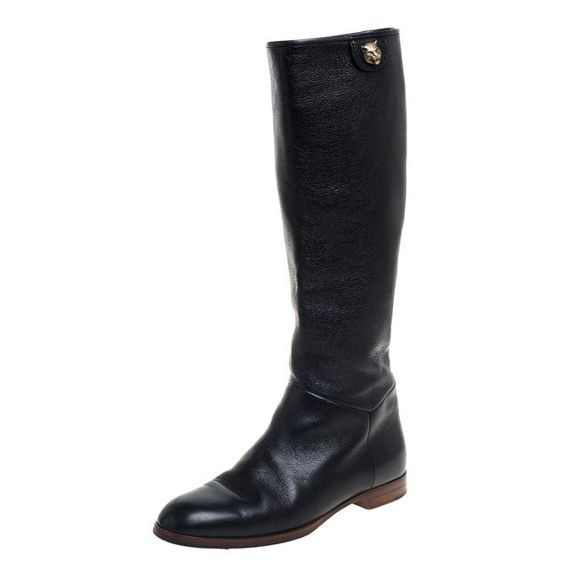 Item - Black Leather Riding Mid Calf Size 35.5 Boots/Booties
