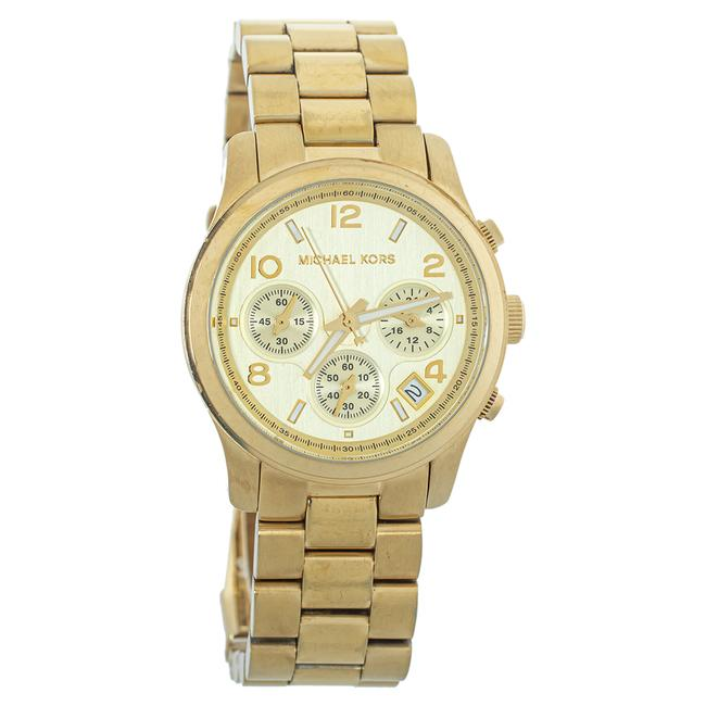 Item - Yellow Gold Plated Stainless Steel Mk5055 Women's Wristwatch 38mm Watch