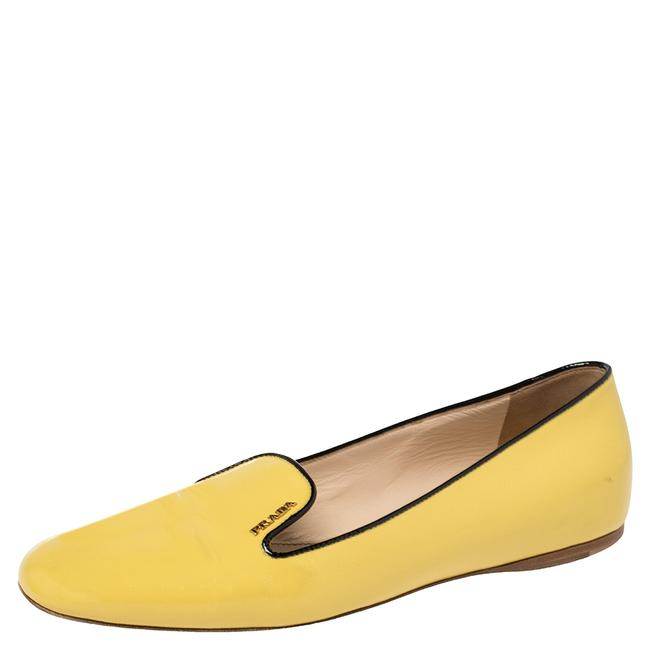 Item - Yellow Patent Leather Smoking Slippers Size 39 Flats