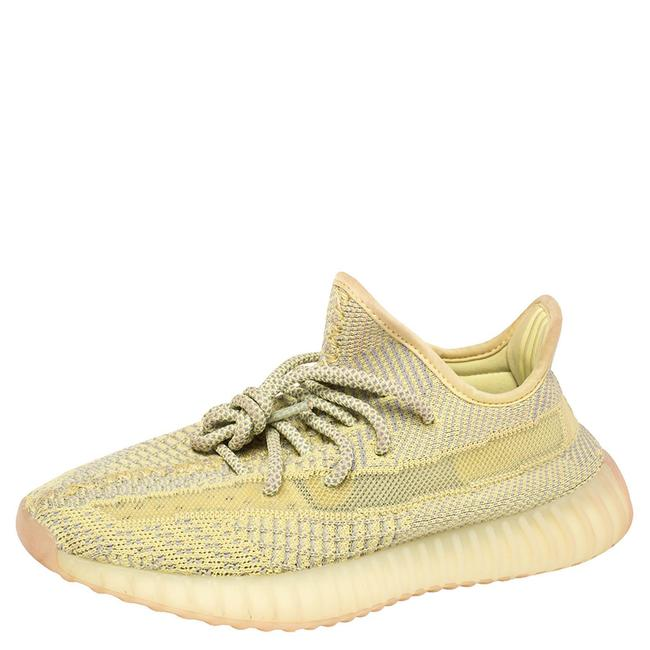 Item - Yellow Cotton Knit Boost 350 V2 'antlia' Sneakers Size 37.5 Athletic