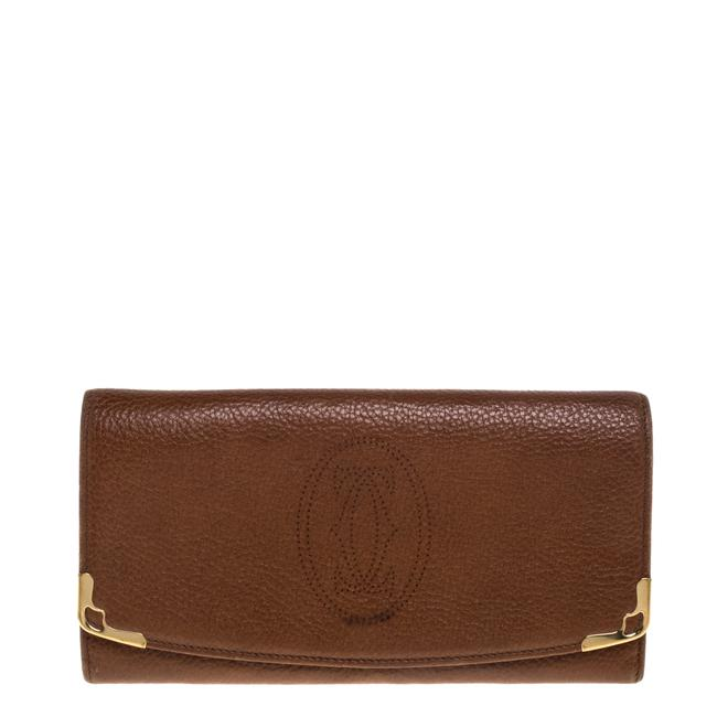 Item - Brown Leather Marcello De Flap Wallet