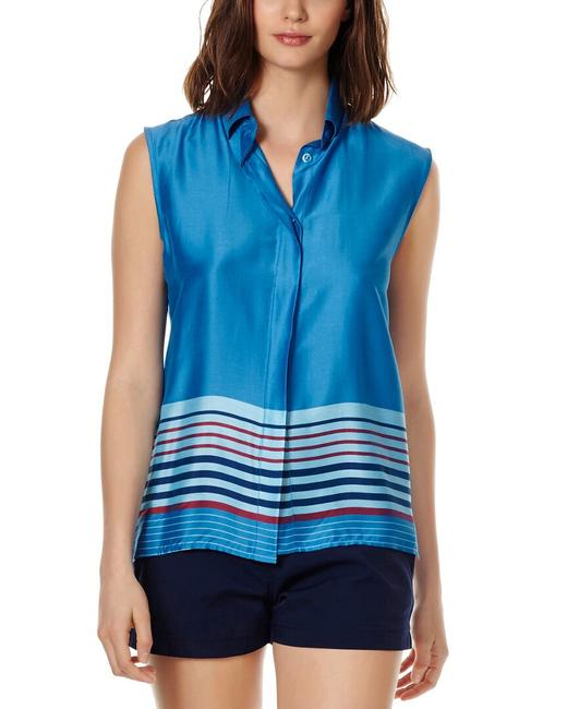 Item - Rayures Bleues Silk-blend Top Fcyh9w05 Cover-up/Sarong