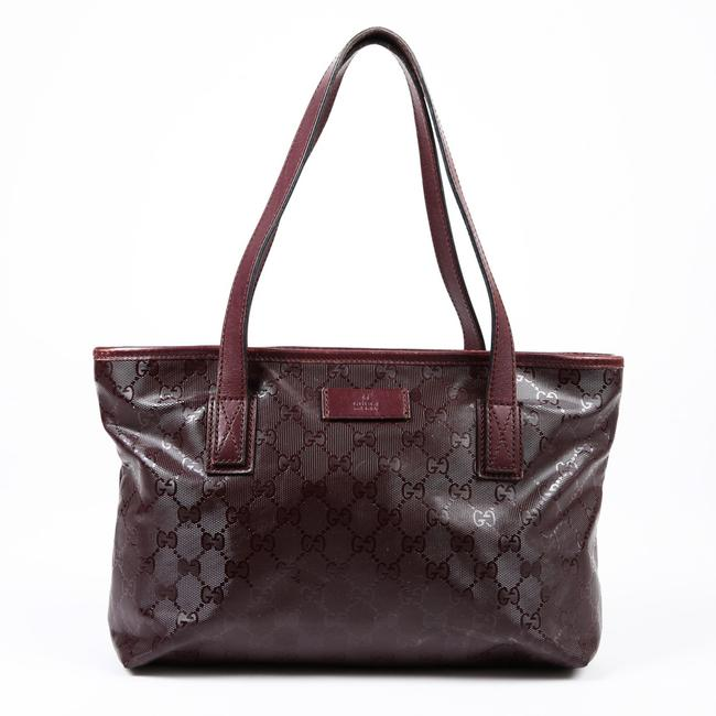 Item - Joy Bag Small Purple Gg Coated Canvas Tote