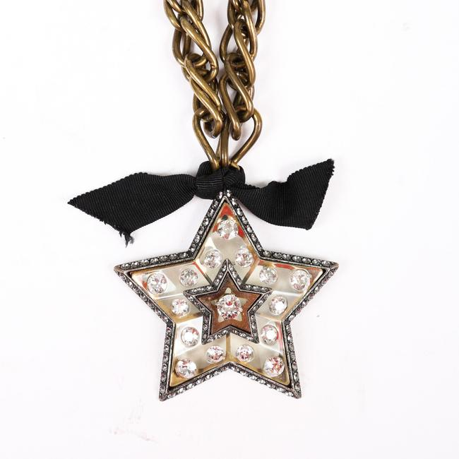 Item - Altair Star Brooch Gold Tone Crystal Jewelry