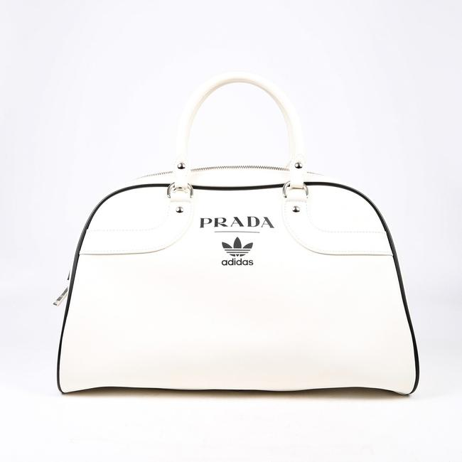 Item - Bowling For Adidas Limited Edition White Leather Weekend/Travel Bag