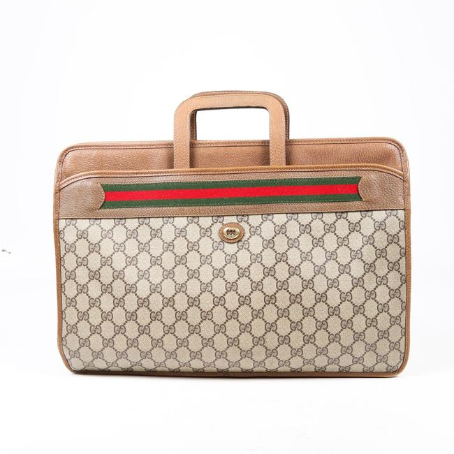 Item - Accessory Collection Sherry Line Briefcase Brown Gg Monogram Web Canvas Laptop Bag