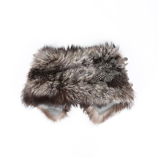 Item - Brown Fur Feather Stole Scarf/Wrap