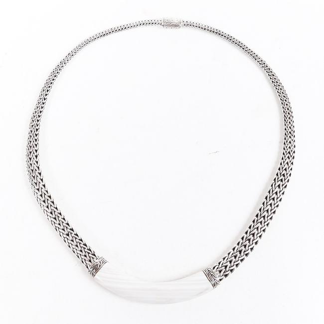 Item - Classic Chain Sterling Silver White Agate Jewelry
