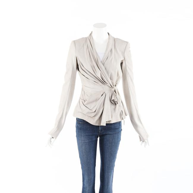 Item - Tungsten Gray Suede Leather Wrap 46 Jacket