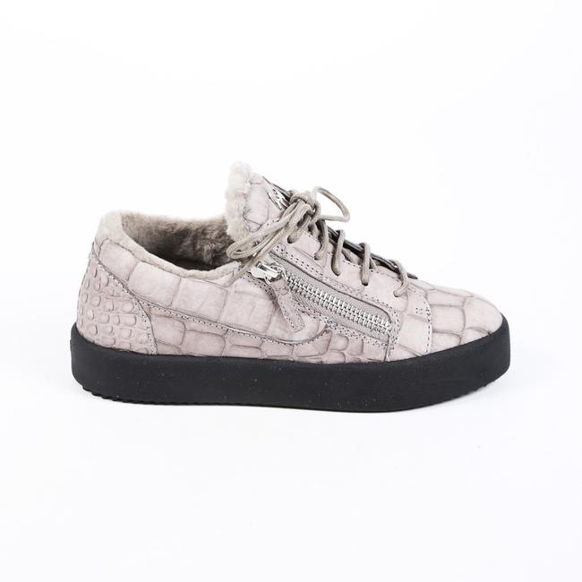 Item - Sneakers Clarabella Gray Leather Shearling Low Top 36.5 Athletic