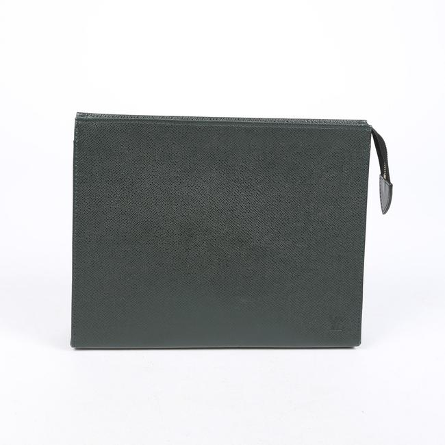 Item - Cosmetic Pouch Bag Toilette 26 Green Taiga Wristlet