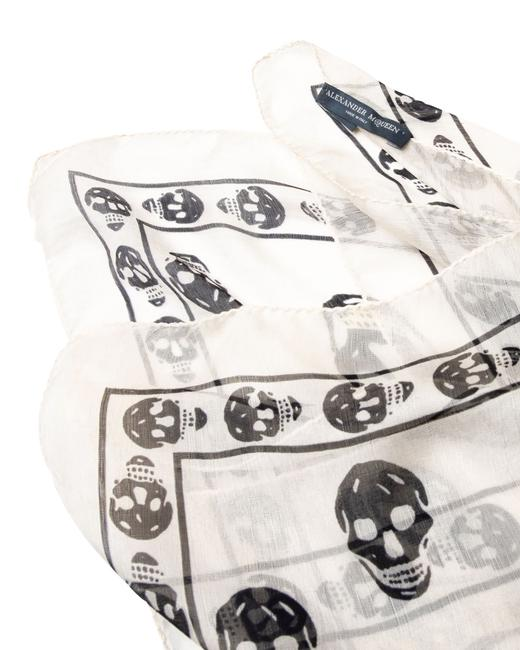 Item - Skull Print Silk -pre Owned Condition Scarf/Wrap