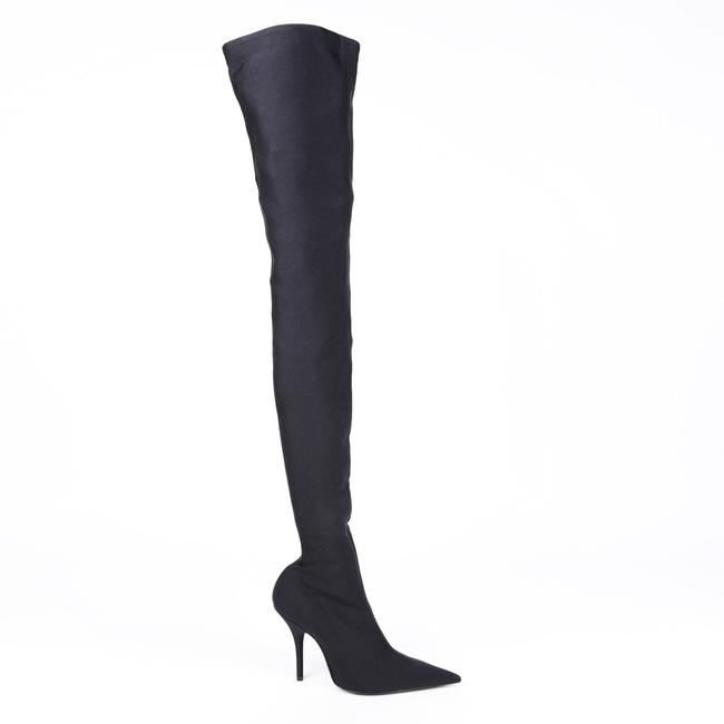 Item - Knife Sock Black Over The Knee 36 Boots/Booties