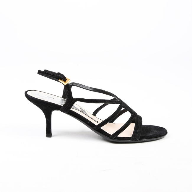 Item - Blue Suede Strappy Heeled 37.5 Sandals