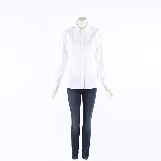 Item - XS Shirt Madelyn White Cotton Poplin Button Up