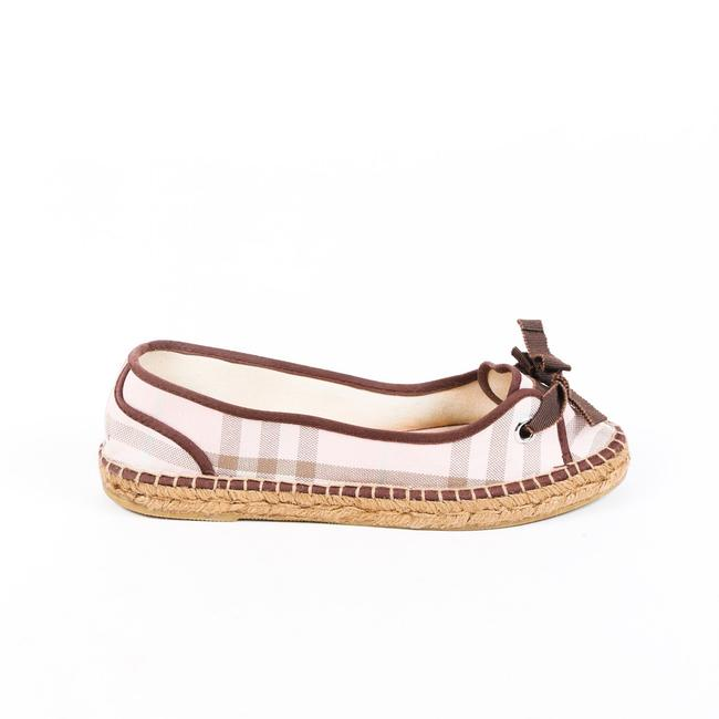Item - Espadrilles Pink Nova Check Canvas 40 Flats