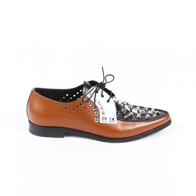 Item - Oxfords Black Brown Studded Perforated 39 Flats