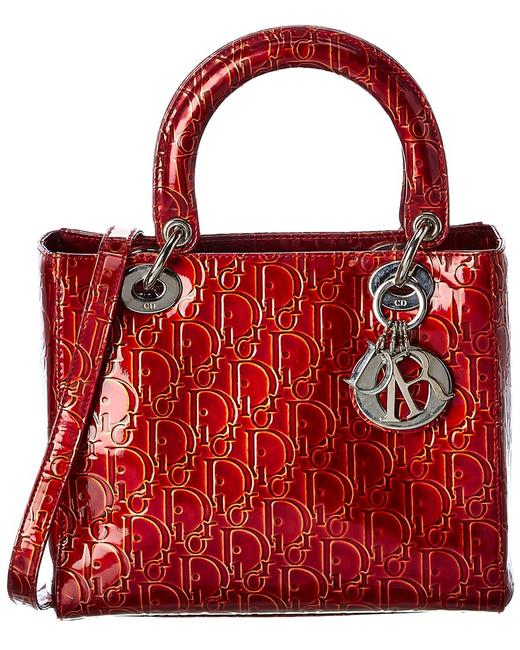 Item - Lady Pre-owned Red Patent Leather Small 7683-1 Shoulder Bag