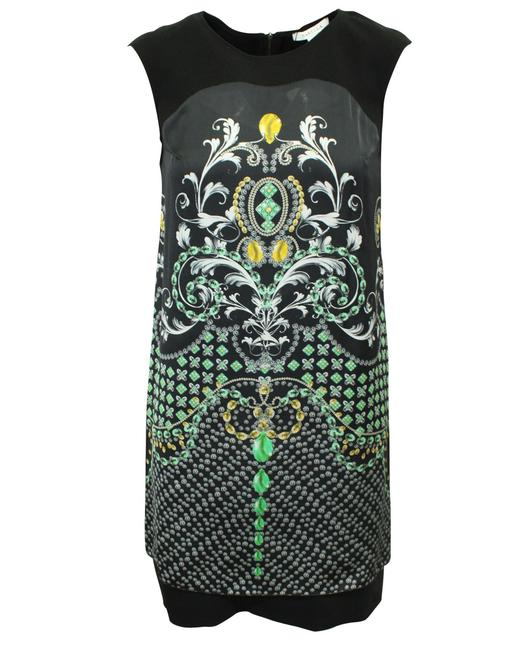 Item - Black Printed Midi -pre Owned Condition Very Good Uk10 Formal Dress