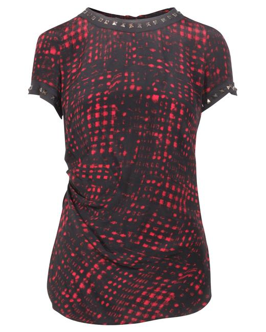 Item - Black and Red Print Top Blouse