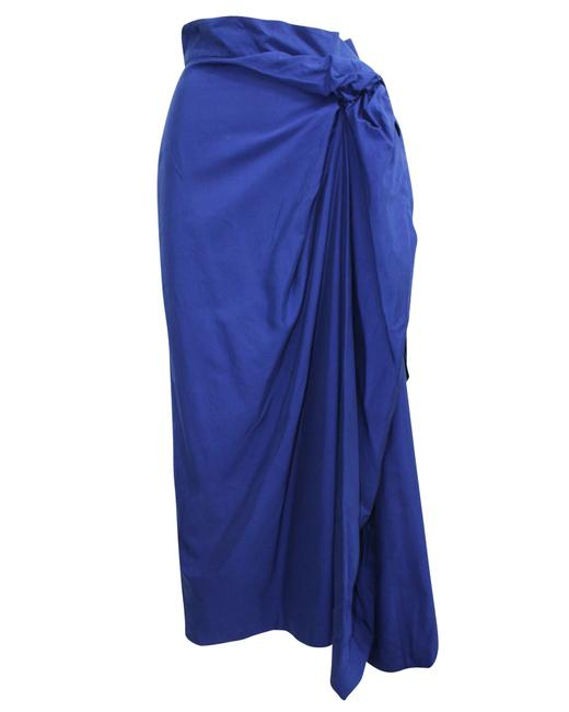 Item - Blue Maxi with Tie Detail Skirt