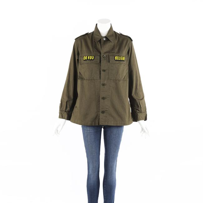 Item - Cher Beaded Sequin Green Army Jacket