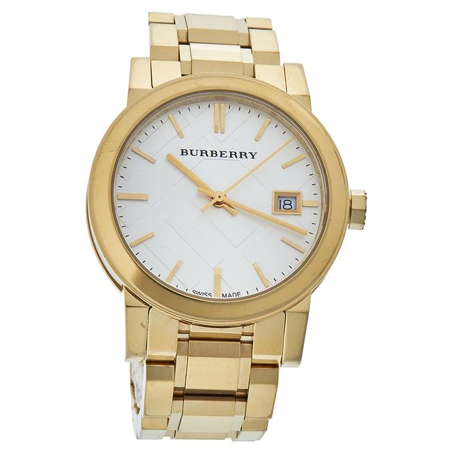 Burberry Silver Gold Tone Stainless Steel Bu9103 Women's Wristwatch 34 Mm Watch Burberry Silver Gold Tone Stainless Steel Bu9103 Women's Wristwatch 34 Mm Watch Image 1