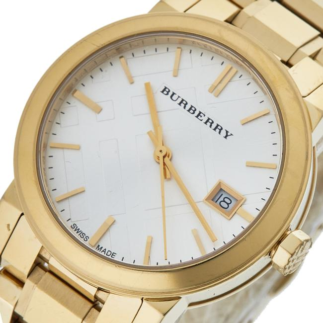 Burberry Silver Gold Tone Stainless Steel Bu9103 Women's Wristwatch 34 Mm Watch Burberry Silver Gold Tone Stainless Steel Bu9103 Women's Wristwatch 34 Mm Watch Image 2