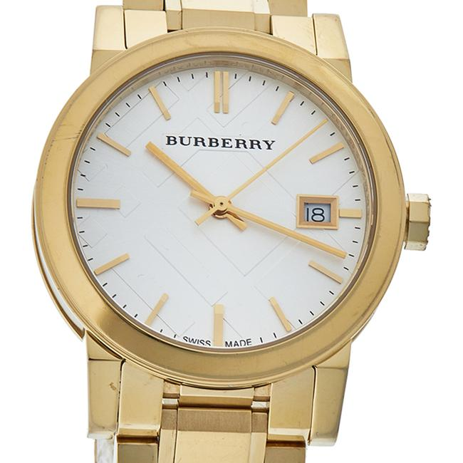 Burberry Silver Gold Tone Stainless Steel Bu9103 Women's Wristwatch 34 Mm Watch Burberry Silver Gold Tone Stainless Steel Bu9103 Women's Wristwatch 34 Mm Watch Image 3
