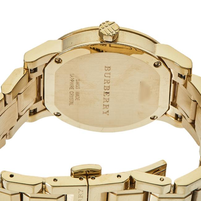 Burberry Silver Gold Tone Stainless Steel Bu9103 Women's Wristwatch 34 Mm Watch Burberry Silver Gold Tone Stainless Steel Bu9103 Women's Wristwatch 34 Mm Watch Image 4