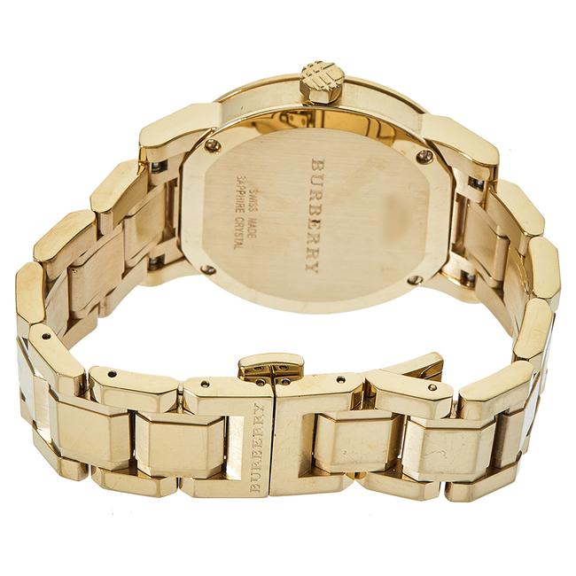 Burberry Silver Gold Tone Stainless Steel Bu9103 Women's Wristwatch 34 Mm Watch Burberry Silver Gold Tone Stainless Steel Bu9103 Women's Wristwatch 34 Mm Watch Image 5