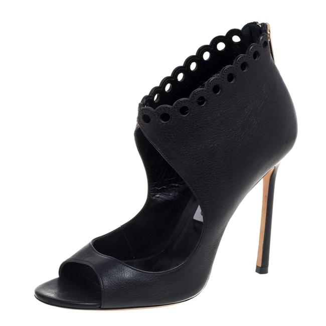 Item - Black Leather Cutout Size 38.5 Boots/Booties