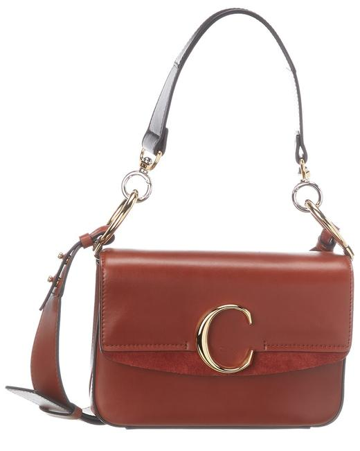 Chloé C Small Leather & Suede Chc19ss191 A37 27s Shoulder Bag Chloé C Small Leather & Suede Chc19ss191 A37 27s Shoulder Bag Image 1