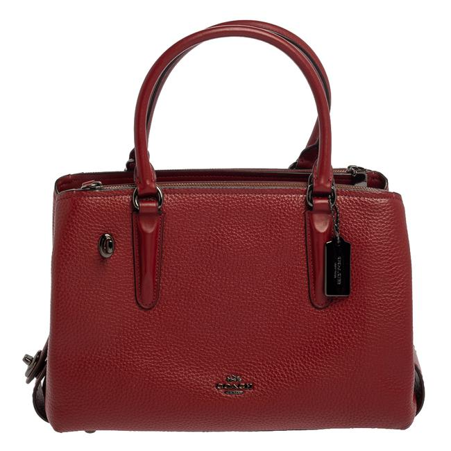 Item - Brooklyn Carryall Red Leather Satchel