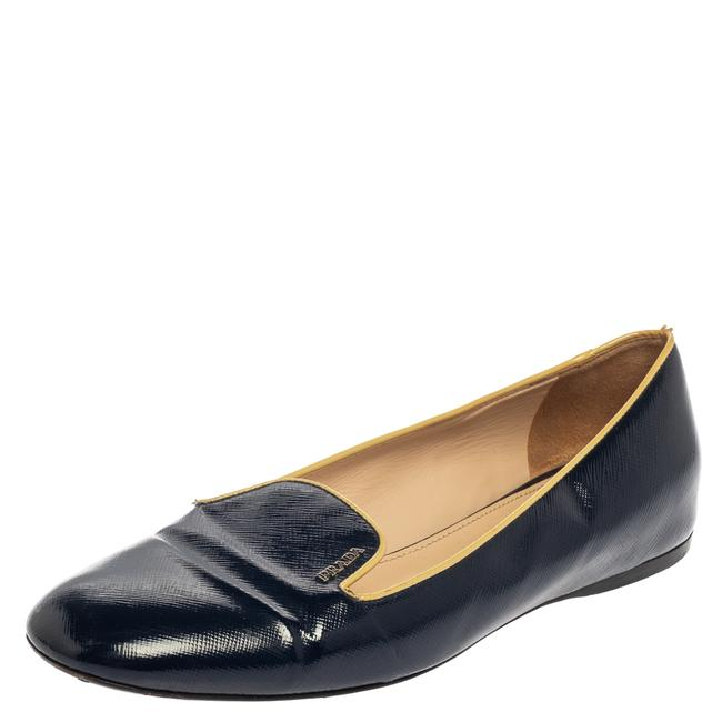 Item - Blue Patent Leather Smoking Slippers Size 39.5 Flats
