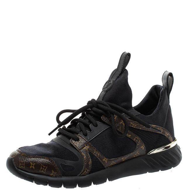 Item - Black/Brown Fabric and Monogram Canvas Aftergame Sneakers Size 36 Athletic