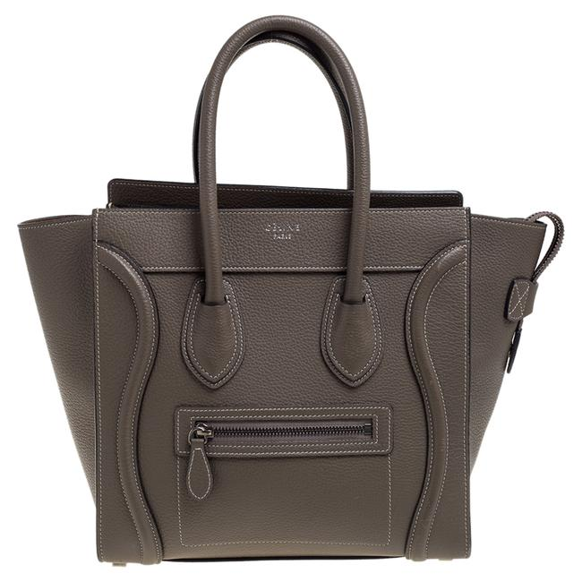 Item - Luggage Taupe Leather Micro Tote