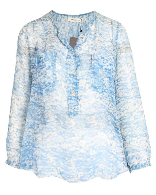 Item - Printed Silk Shirt Top Blouse