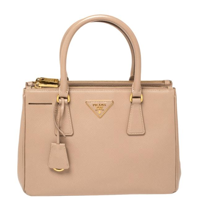 Item - Galleria Double Lux Pink Saffiano Leather Small Zip Tote