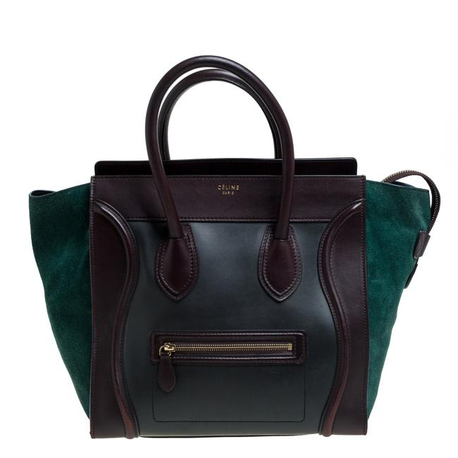 Item - Luggage Tri Color Leather and Suede Mini Tote