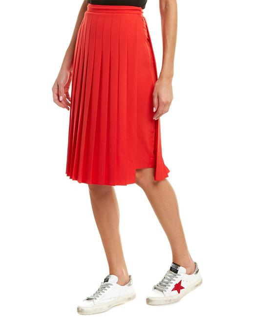 Burberry Womens Cady Stretch Silk-lined Pencil Red 8016917 Skirt Burberry Womens Cady Stretch Silk-lined Pencil Red 8016917 Skirt Image 1