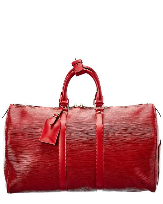 Item - Keepall Pre-owned Red Epi Leather 50 2312205 Weekend/Travel Bag