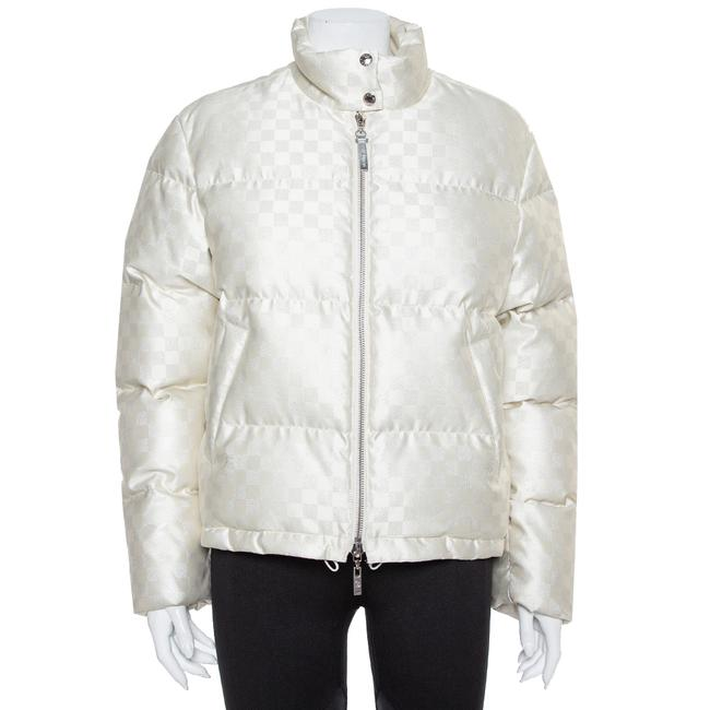 Item - Cream Synthetic Down Puffer Jacket